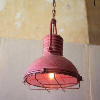 Red Metal Pendant Light