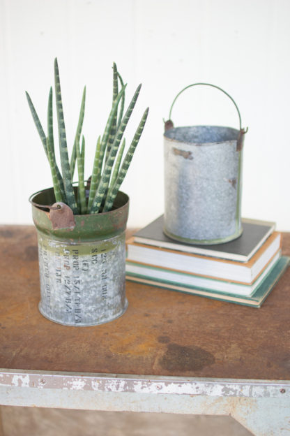 Reclaimed Ammunition Canister Buckets (Set of 2)