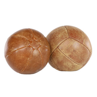 Vintage Leather Medicine Ball