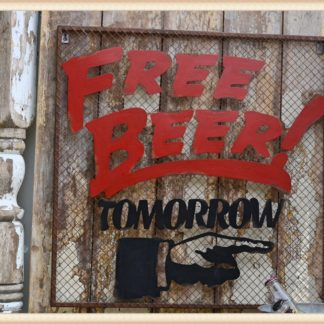 Free Beer Metal Sign