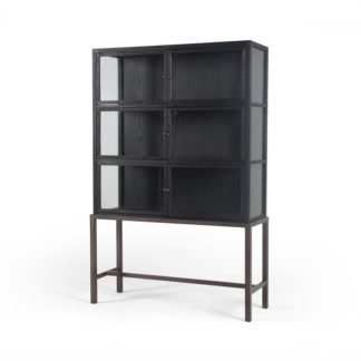 Spencer Curio Cabinet (Drift Black)