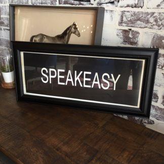 SPEAKEASY Framed Print