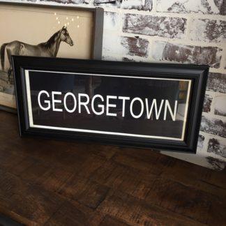 GEORGETOWN Framed Print