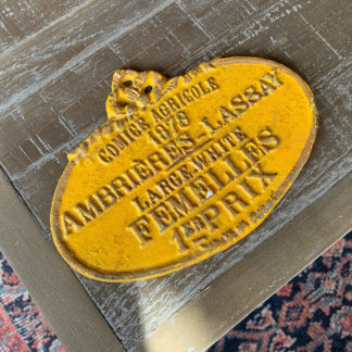 French Cast Iron Sign (Yellow)