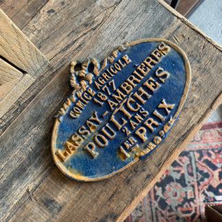 French Cast Iron Sign (Blue)