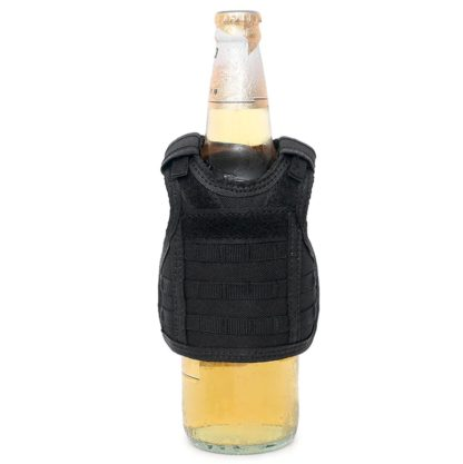 Tactical Beer Vest Koozie (Black)