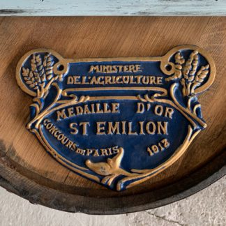 French Cast Iron Sign Large (Blue)