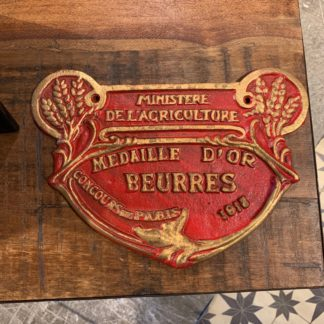 French Cast Iron Sign Large (Red)