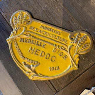 French Cast Iron Sign Large (Yellow)