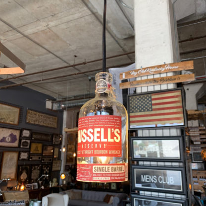 Recycled Russell's Reserve Bottle Pendant Light
