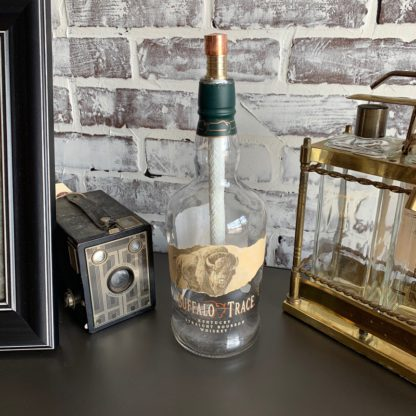 Recycled Buffalo Trace Bottle Tiki Torch