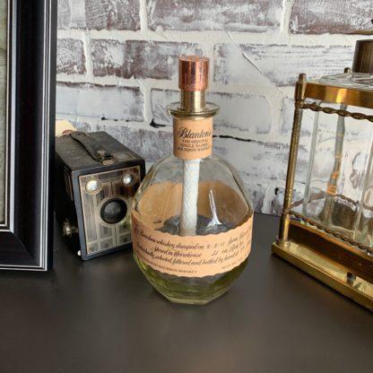 Recycled Blanton's Bottle Tiki Torch