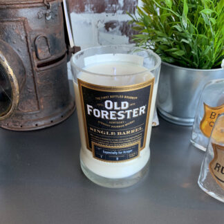Recycled Old Forester Single Barrel Whiskey Candle