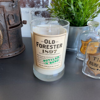 Recycled Old Forester 1897 Whiskey Candle