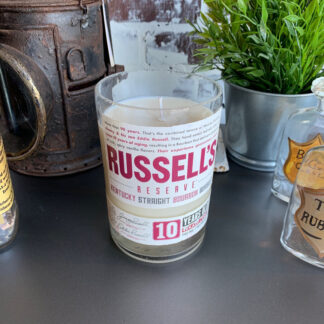 Recycled Russell's Reserve 10YR Whiskey Candle