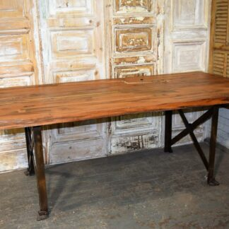 Distressed Metal Coffee Table