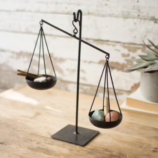 Recycled Metal Scale on Stand