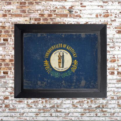 Distressed Kentucky Flag Framed Print