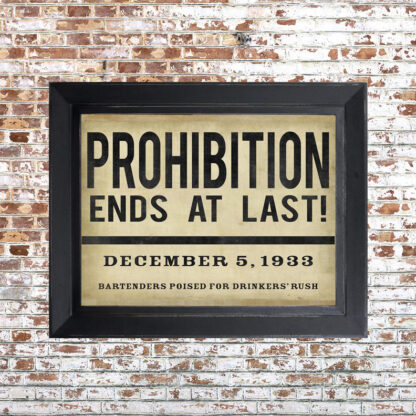 Distressed Prohibition Framed Print