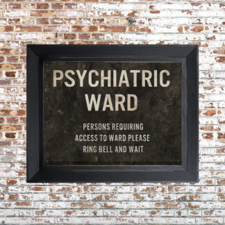 Distressed Psych Ward Framed Print