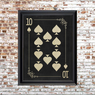 TEN OF SPADES Framed Print