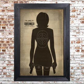 FEMALE TARGET SILHOUETTE Framed Print