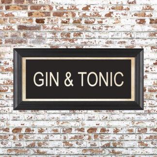 GIN & TONIC Framed Print