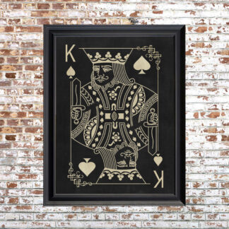 KING OF SPADES Framed Print