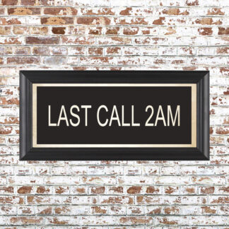 LAST CALL 2AM Framed Print