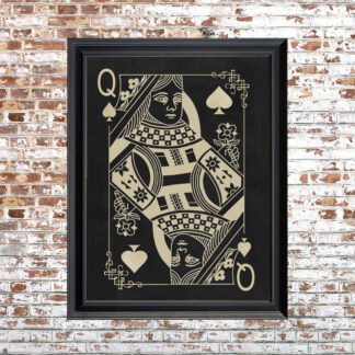 QUEEN OF SPADES Framed Print