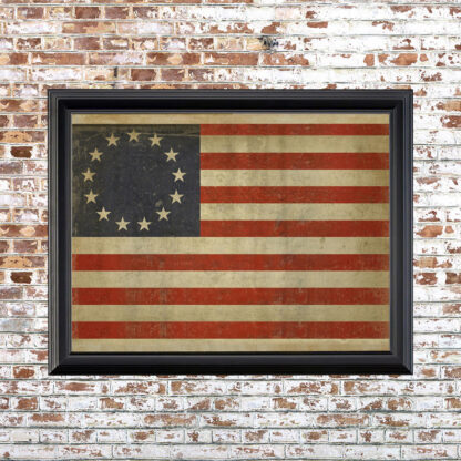 Distressed Betsy Ross Flag Framed Print