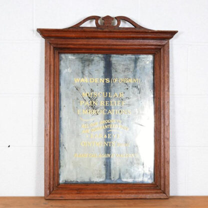 Vintage Mirror with Painted Text