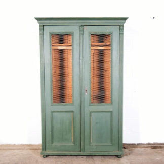 Vintage Green Cabinet with Mesh