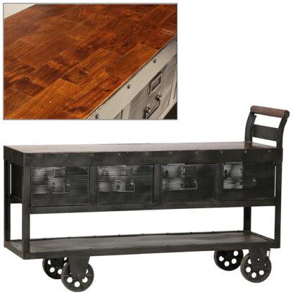 Hayes Metal and Wood Trolley