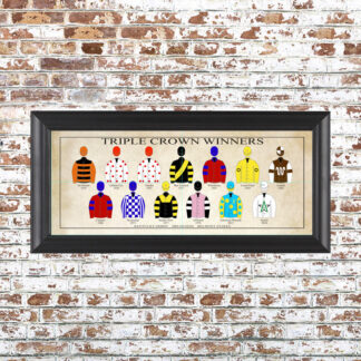Triple Crown Silks Framed Print