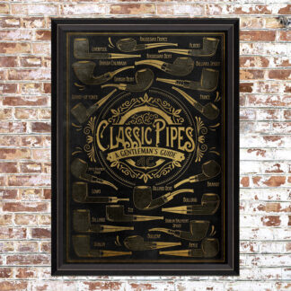 Framed Classic Pipes Print
