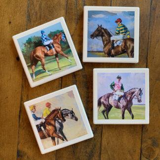 Stone Drink Coasters (Set of 4)- Horses