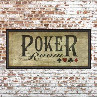 Framed Poker Room Print