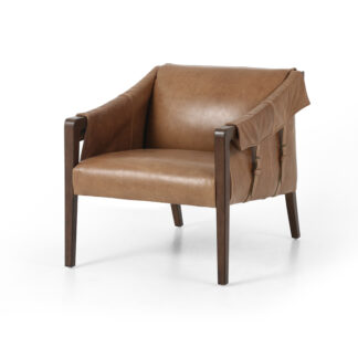 Bauer Leather Chair- Warm Taupe