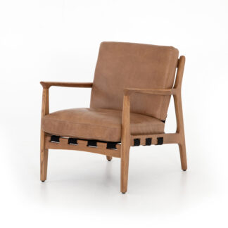 Silas Leather Chair- Patina Copper