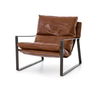 Emmett Leather Sling Chair- Dakota Tobacco