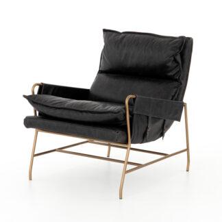 Taryn Leather Chair- Sonoma Black