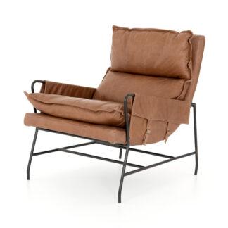 Taryn Leather Chair- Chaps Saddle