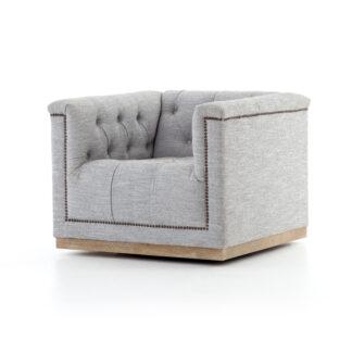 Maxx Swivel Chair- Manor Grey