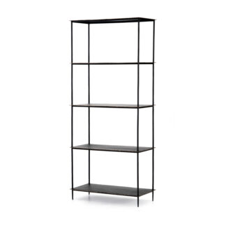 Trula Bookshelf- Rubbed Black