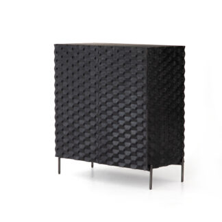 Raffael Bar Cabinet- Black Wash