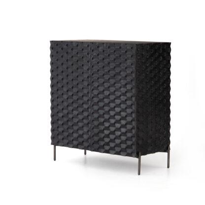 Raffael Bar Cabinet- Black Wash