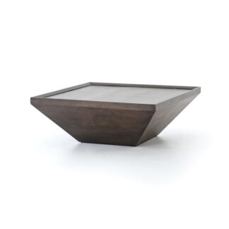 Drake Reclaimed Wood Coffee Table- Coal Grey