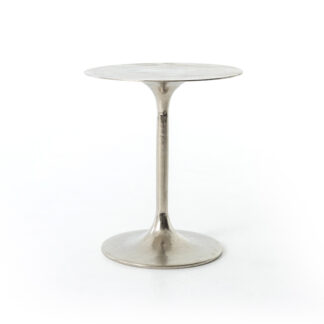 Tulip Side Table- Raw Nickel