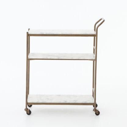 Felix Brass and Marble Bar Cart